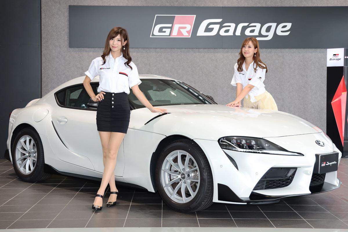 レースクイーンの生田ちむさん、中村比奈さんとGRスープラ