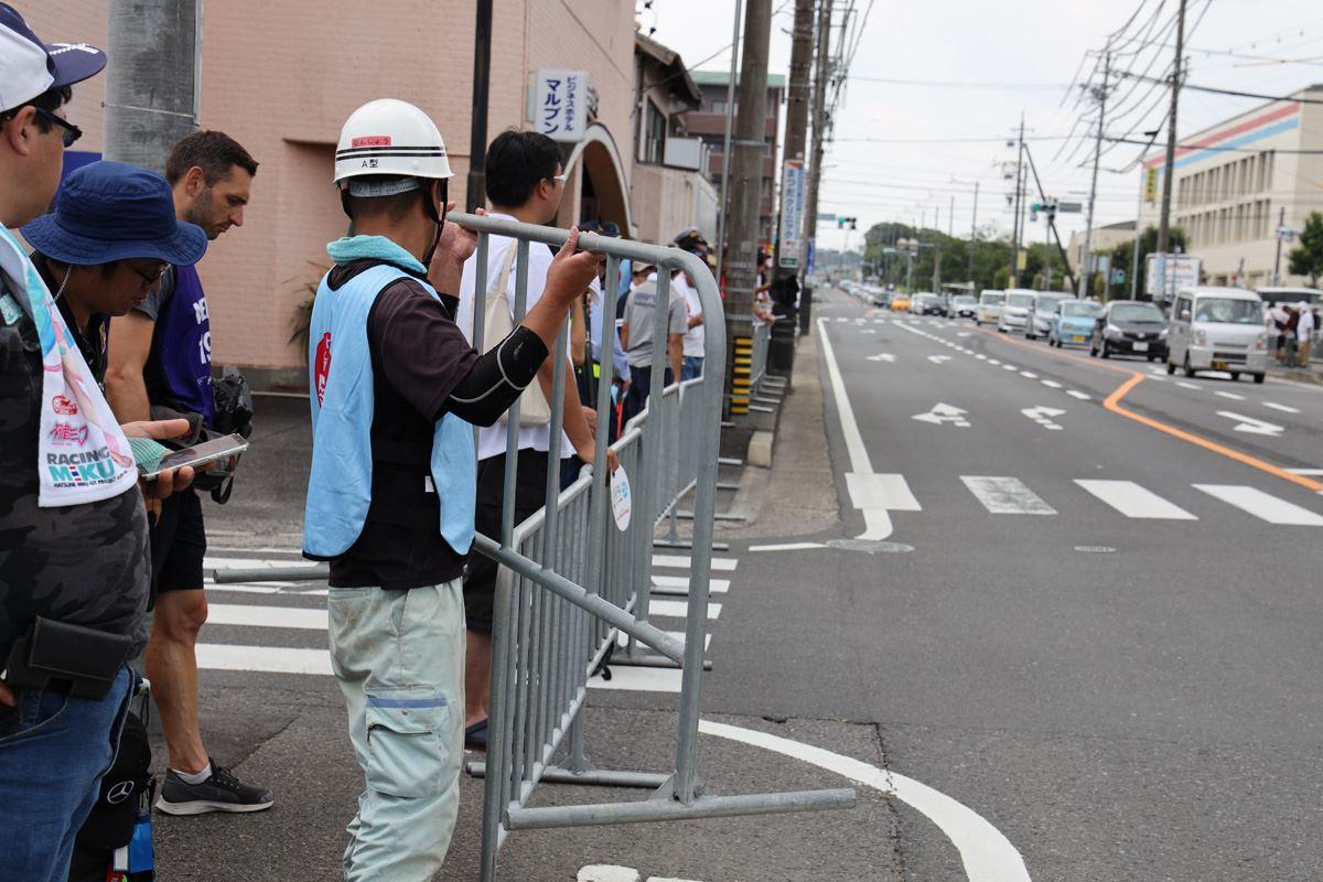 道路封鎖の様子