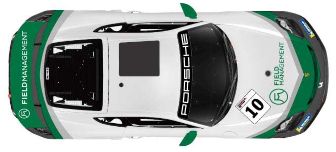 GT4のカラーリング、上から