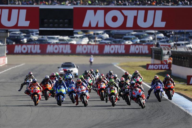 MotoGP日本GPスタートシーン