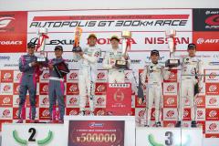SUPER GT 2019第6戦オートポリスのGT300表彰台