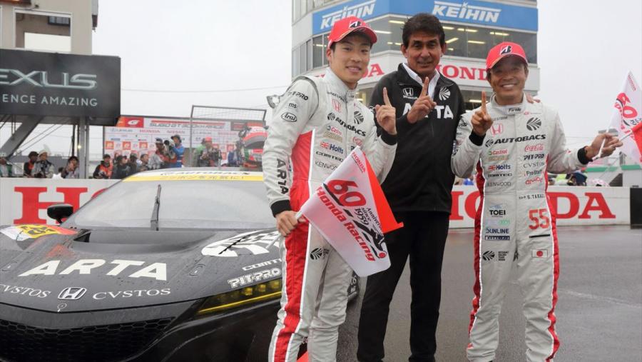 優勝したARTA NSX GT3