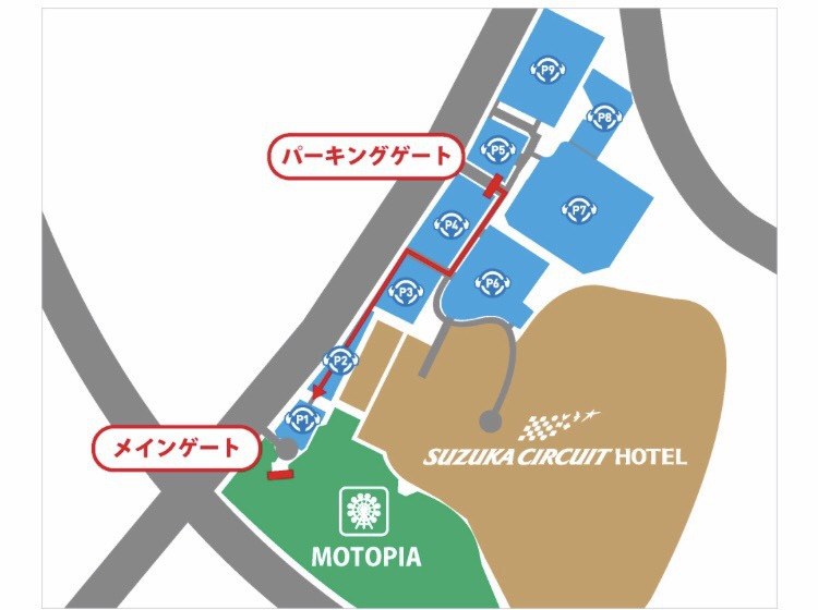 F1日本GPシャトルバス乗り場