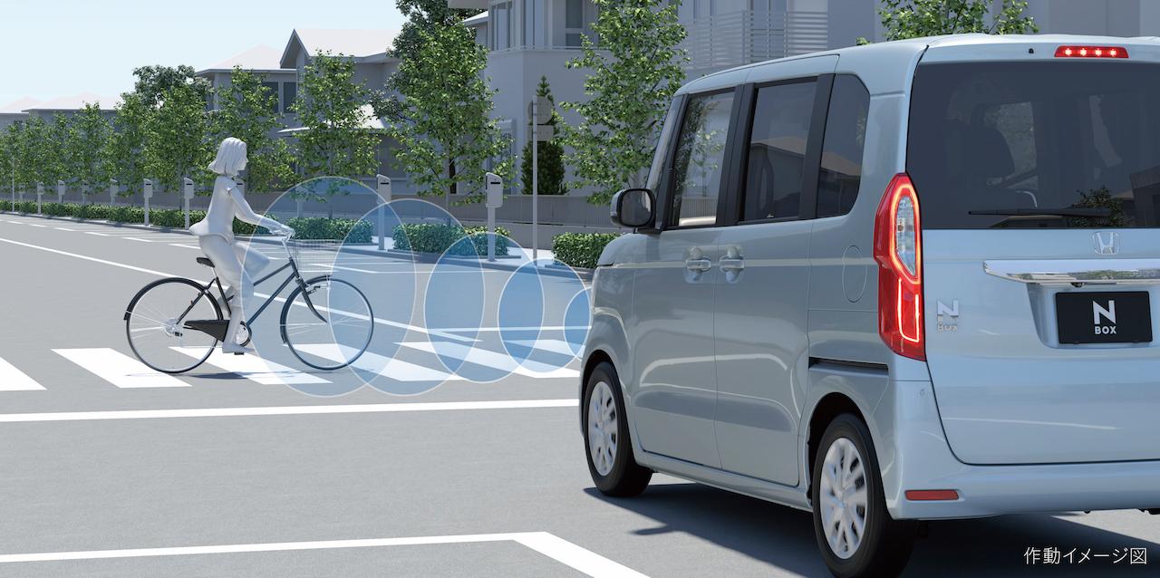 「ホンダN-BOX/N-BOXカスタム一部改良で衝突被害軽減ブレーキの横断自転車対応など商品力を向上【新車】」の2枚目の画像