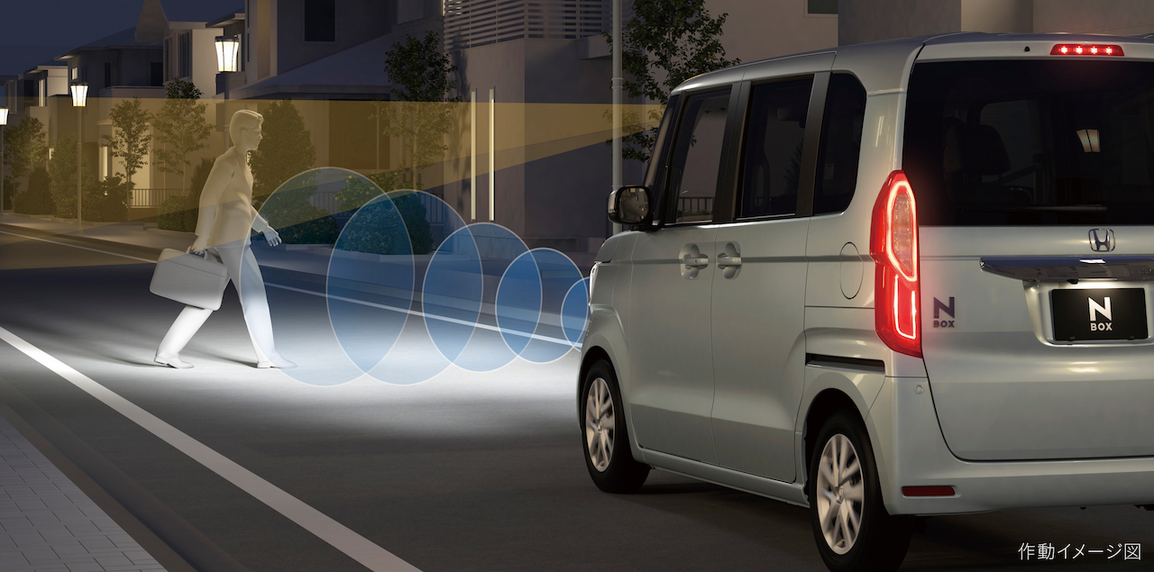 「ホンダN-BOX/N-BOXカスタム一部改良で衝突被害軽減ブレーキの横断自転車対応など商品力を向上【新車】」の3枚目の画像