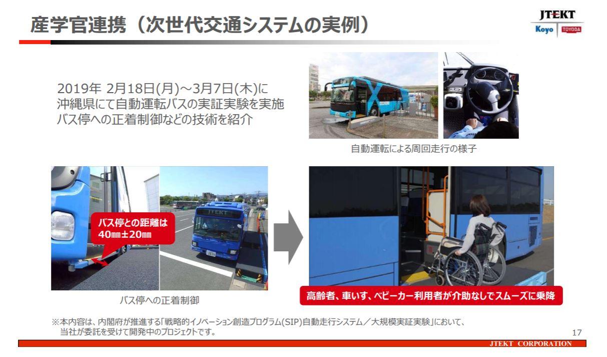 「世界シェア1位のパワステメーカーは日本のJTEKT(ジェイテクト)。ベテランバス運転手並みの自動運転を実証【東京モーターショー2019】」の3枚目の画像