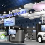 「CASE」に対応する内外装モジュール、エアバッグ一体シート、柔らかな車体のコンセプトカーなどを出展【東京モーターショー2019】 - toyoda-gosei_Tokyo_Motorshow_20191014_6