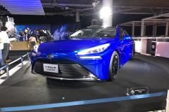新型市販車の展示ないトヨタブース。東京モーターショーはテーマ