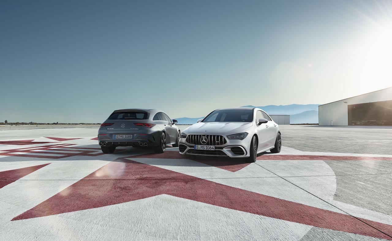 「2.0Lエンジンで世界最高の421PSを誇る、メルセデス・ベンツAMG CLA 45 S 4MATIC+/CLA 45 S 4MATIC+シューティングブレークが発売【新車】」の1枚目の画像