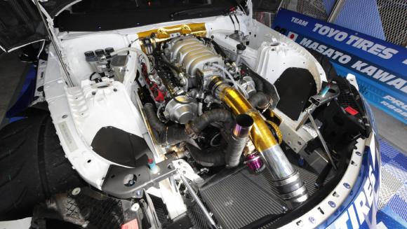 川畑選手のV8エンジン