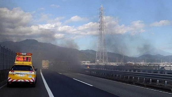 東名高速の火災