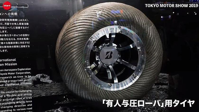 月面用タイヤ