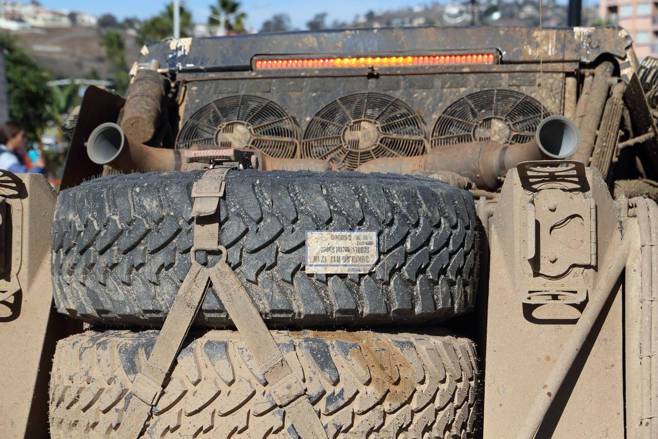 スペアタイヤは使用されずにゴールした