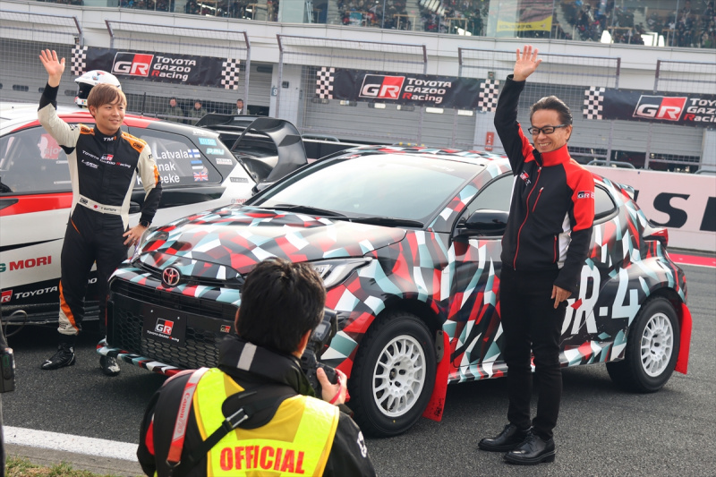 GAZOO Racing Company President 友山茂樹氏と世界ラリー選手権WRCに挑戦中の勝田貴元選手