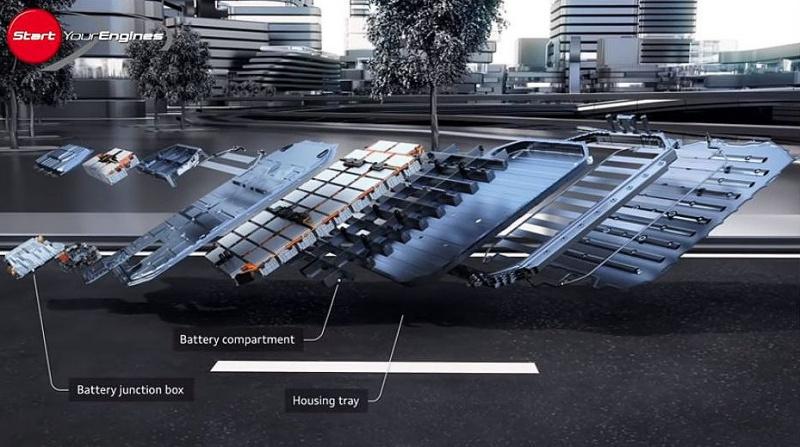 e-tronの床下バッテリー
