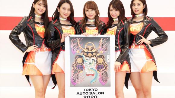 東京オートサロン2020のイメージボードとTASエンジェルズ