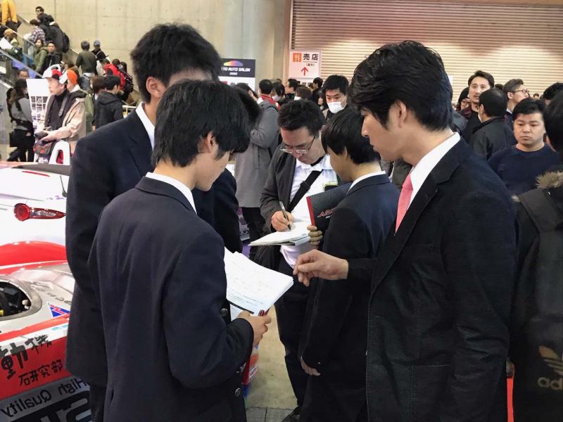 東京オートサロン2020で行われた署名活動