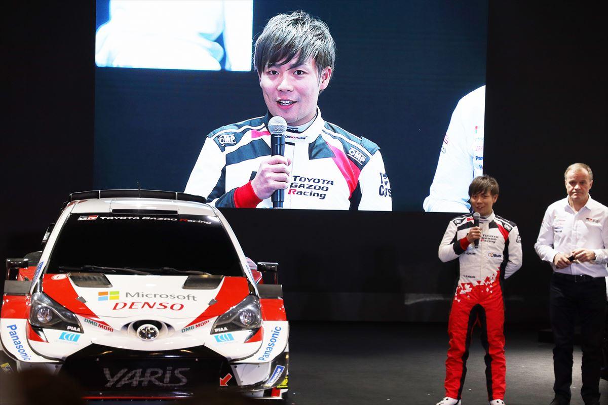 「勝田選手がヤリスWRCでWRCに8戦出場! トヨタのWRC体制発表【東京オートサロン2020】」の3枚目の画像