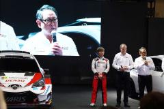 チーム総代表の豊田章男トヨタ自動車社長