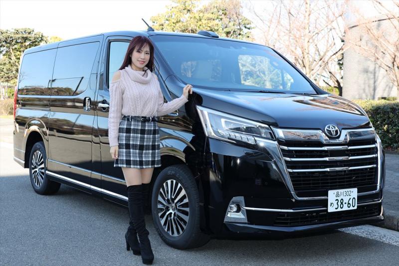 トヨタ グランエースと霧島聖子さん