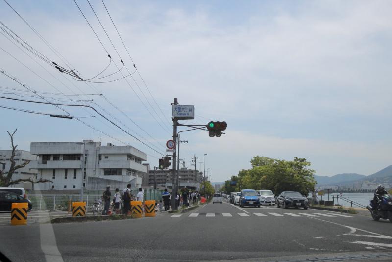 大津の事故現場となった交差点