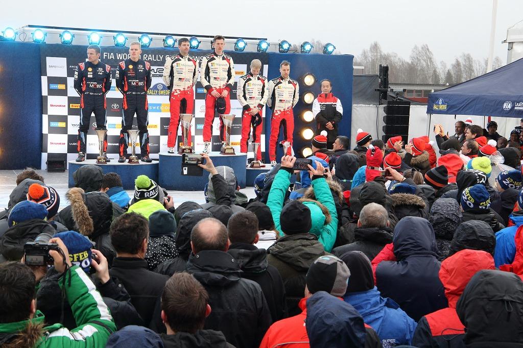 「WRCスウェーデンラリーは、トヨタが1&3位のW表彰台! あ~楽しかった!!」の2枚目の画像