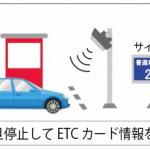 ノンストップじゃないけど一旦停止すればOK。神奈川県の有料道路で新型ETC社会実験のモニターを募集 - 【日立画像】ワンストップ型ETC読取イメージ