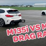 新旧BMW・1シリーズのゼロヨン勝負。※ただしウエット路面、新型4輪vs旧型2輪【動画】 - 01