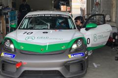 ドライバーテスト中のマックス・サロ選手