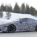 アウディ「E-Tron GT」を初スクープ! 市販型EV初のスポーツクーペ誕生へ - Audi etron GT 8