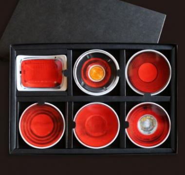 歴代GT-Rテールランプお皿セット