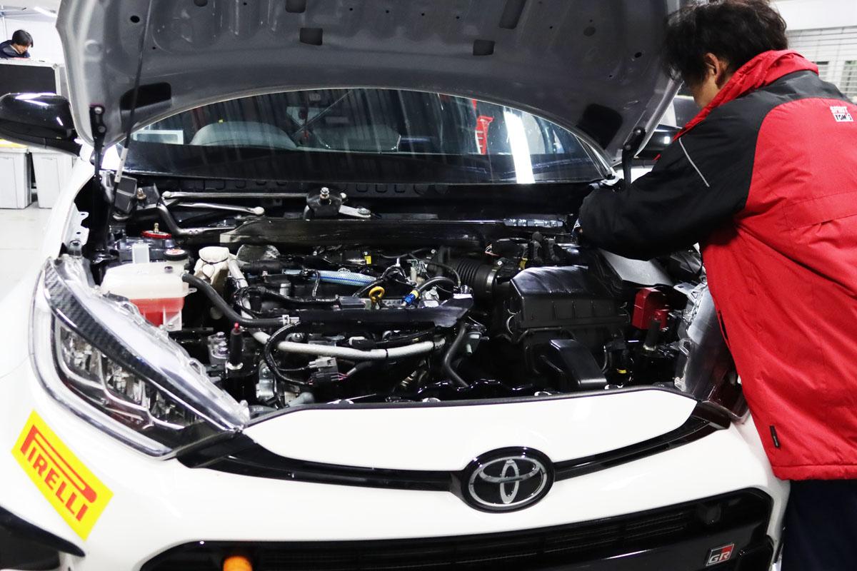 GRヤリススーパー耐久レース仕様のエンジン