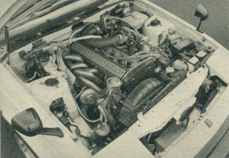 RSヤマモト・セリカXXのエンジン