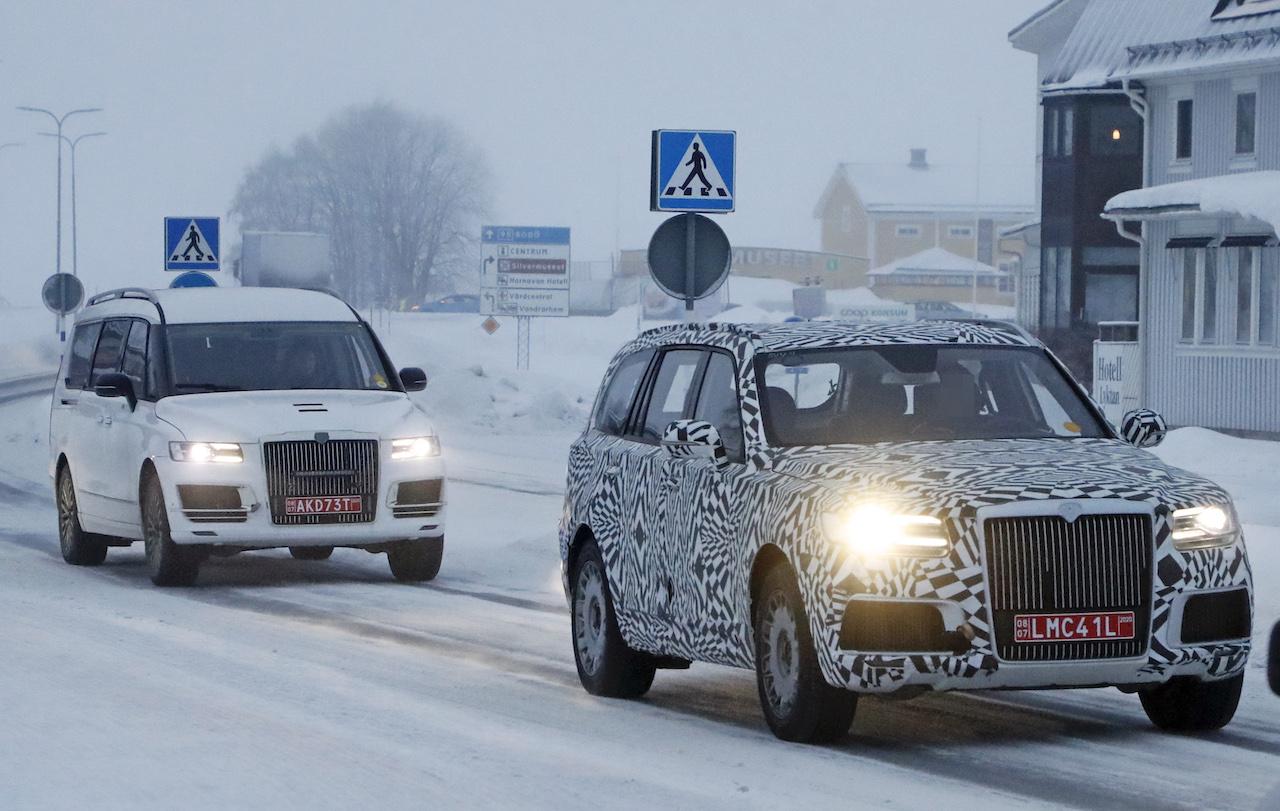 「「ロシアのロールスロイス」は、指揮官の名を持つ超豪華SUV。598馬力のハイブリッドを搭載し、2022年発売」の9枚目の画像