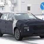 ヒュンダイの主力SUV「サンタフェ」改良型は、ボルボ風T字型LEDデイライトを装備? - Hyundai Santa Fe facelift 2