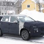 ヒュンダイの主力SUV「サンタフェ」改良型は、ボルボ風T字型LEDデイライトを装備? - Hyundai Santa Fe facelift 4