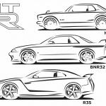 「フィガロ」「チョイモビ」「GT-R」も塗り絵を公開!日産のグローバルデザインチームが「#drawdrawdraw」開始 -
