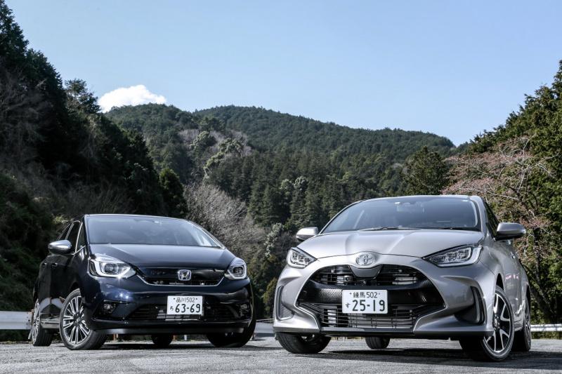 トヨタ・ヤリス Zとホンダ・フィット e:HEV LUXE