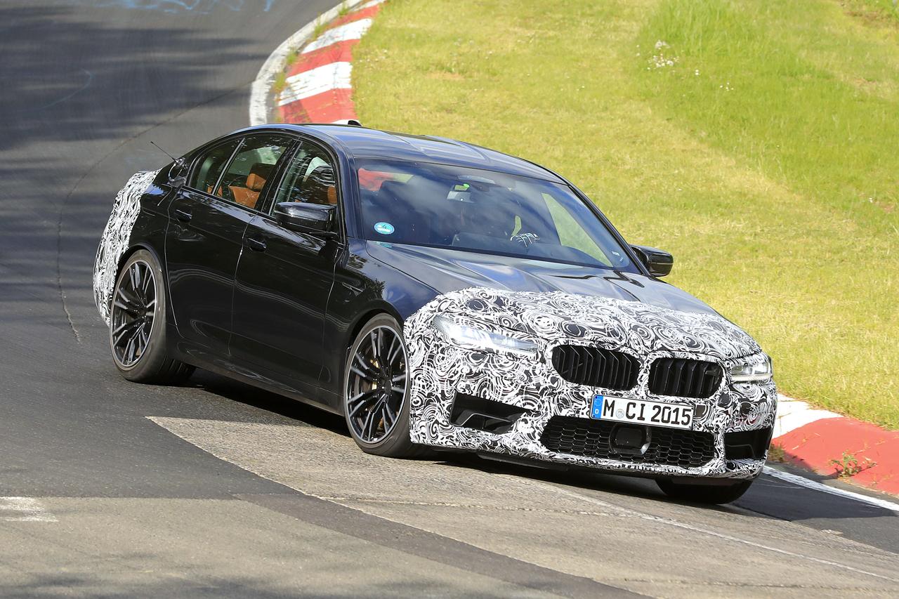 「BMW M5セダン改良型の最終デザインが鮮明に。ニュルで高速テスト」の3枚目の画像