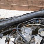 旧車再生の基本・フレームを清掃する(前編)【49年前のCB125は直るのか?素人再生記 】 - cb125k5_flame01
