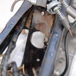 旧車再生の基本・フレームを清掃する(後編)【49年前のCB125は直るのか?素人再生記 】 - cb125k_flame06