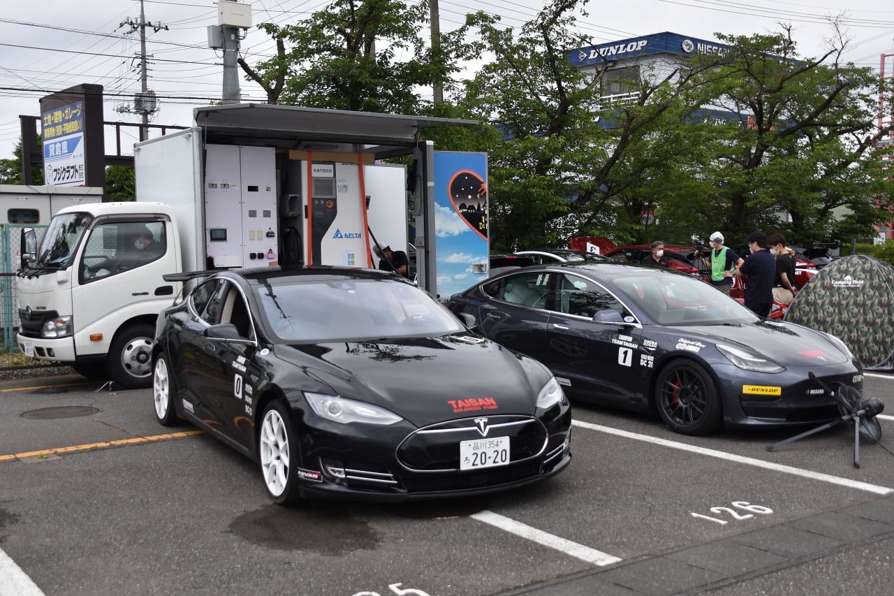 「早くも第2戦を迎えたEVレース・ALL JAPAN EV-GP SERIES 第2戦はテスラ3が圧勝」の1枚目の画像