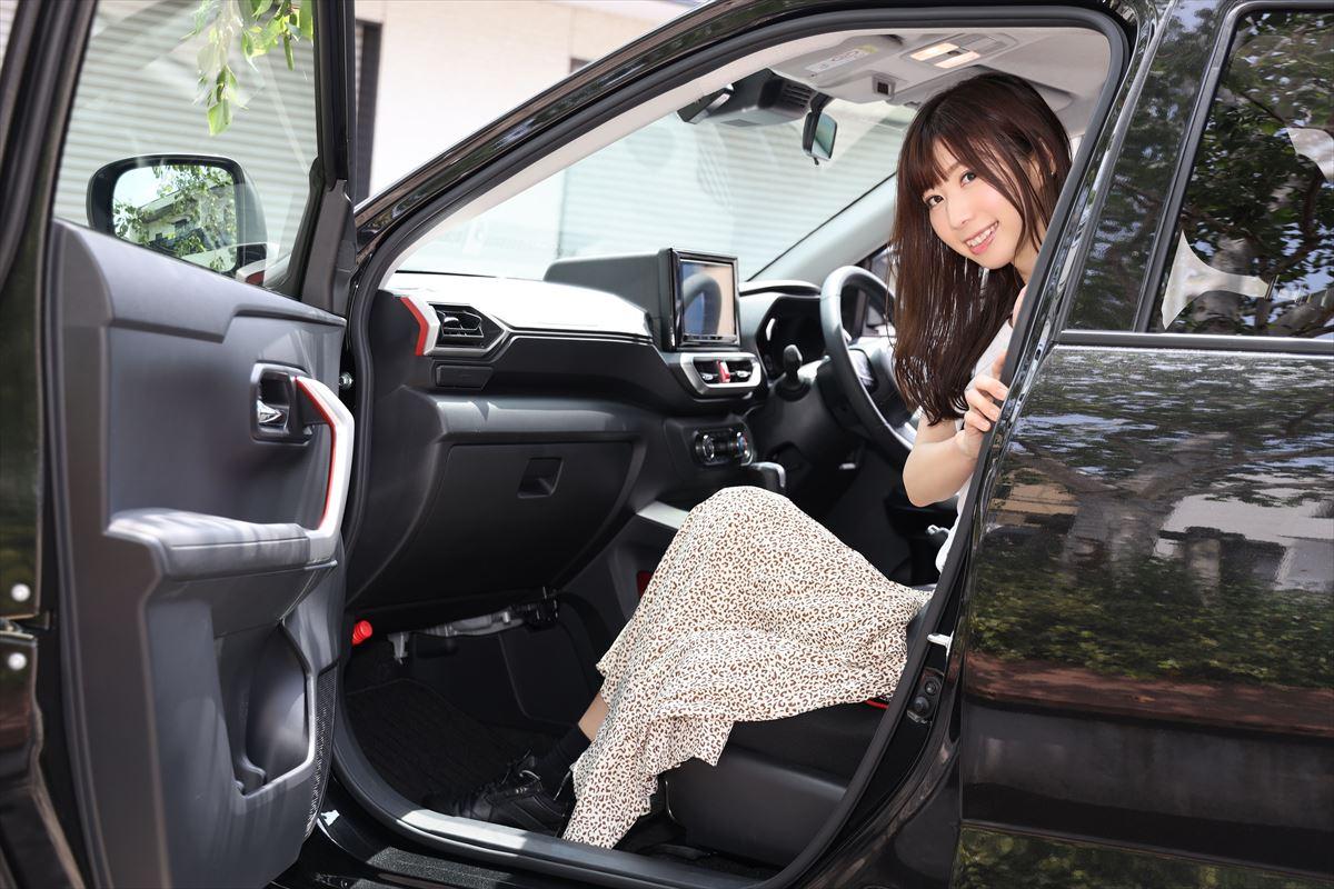 トヨタ ライズのドア開口部