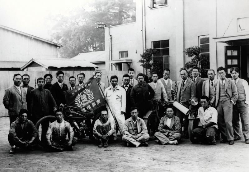 招魂祭レースでの優勝時(1930(昭和5)年10月)。