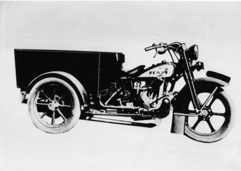 ダイハツの3輪トラック「HA型」(1930(昭和5)年12月)。