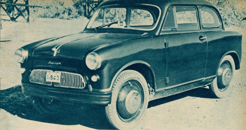 スズキ スズライト セダン(1955(昭和30)年10月)。