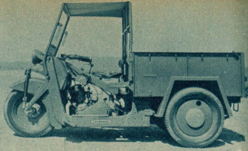 みずしま3輪 TM3A(1947(昭和22)年)。