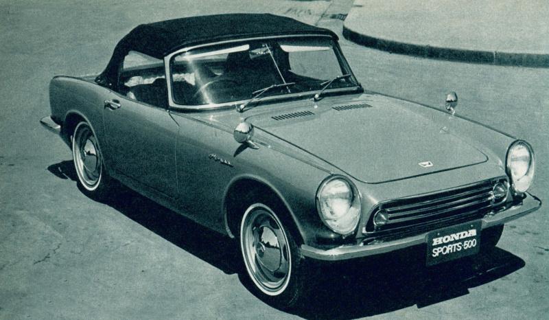ホンダS500(1963(昭和38)年10月)。