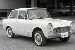 トヨタ・パブリカ(1961(昭和36)年6月)。