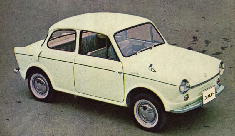 三菱コルト(1962(昭和37)年6月)。
